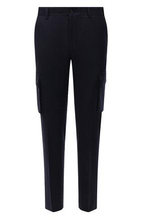 Мужские шерстяные брюки-карго CORNELIANI темно-синего цвета, арт. 884L02-1818111/00 | Фото 1