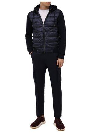 Мужские шерстяные брюки-карго CORNELIANI темно-синего цвета, арт. 884L02-1818111/00 | Фото 2