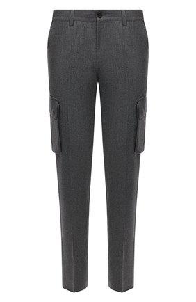 Мужские шерстяные брюки-карго CORNELIANI серого цвета, арт. 884L02-1818111/00 | Фото 1