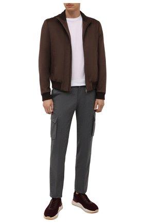 Мужские шерстяные брюки-карго CORNELIANI серого цвета, арт. 884L02-1818111/00 | Фото 2