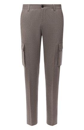 Мужские шерстяные брюки-карго CORNELIANI бежевого цвета, арт. 884L02-1818111/00 | Фото 1