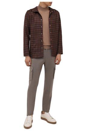 Мужские шерстяные брюки-карго CORNELIANI бежевого цвета, арт. 884L02-1818111/00 | Фото 2
