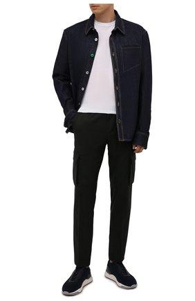 Мужские шерстяные брюки-карго CORNELIANI темно-зеленого цвета, арт. 884L02-1818111/00 | Фото 2