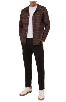 Мужские шерстяные брюки-карго CORNELIANI коричневого цвета, арт. 884L02-1818111/00 | Фото 2