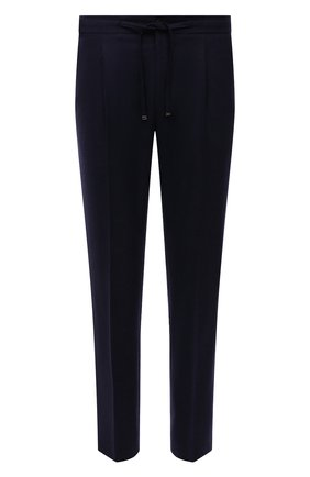 Мужские шерстяные брюки CORNELIANI темно-синего цвета, арт. 884L03-1818117/00 | Фото 1