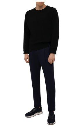 Мужские шерстяные брюки CORNELIANI темно-синего цвета, арт. 884L03-1818117/00 | Фото 2