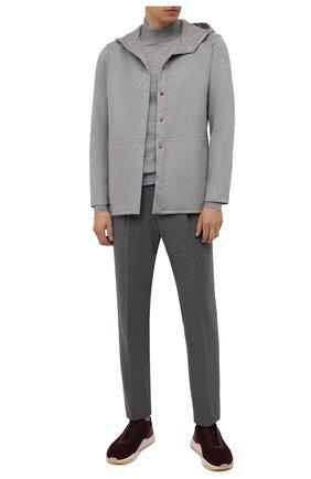 Мужские шерстяные брюки CORNELIANI серого цвета, арт. 884L03-1818117/00 | Фото 2
