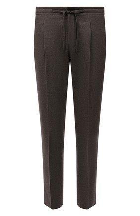 Мужские шерстяные брюки CORNELIANI коричневого цвета, арт. 884L03-1818117/00 | Фото 1