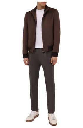 Мужские шерстяные брюки CORNELIANI коричневого цвета, арт. 884L03-1818117/00 | Фото 2