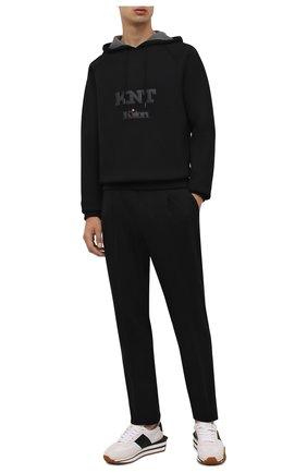 Мужские шерстяные брюки CORNELIANI черного цвета, арт. 884L11-1818501/00 | Фото 2