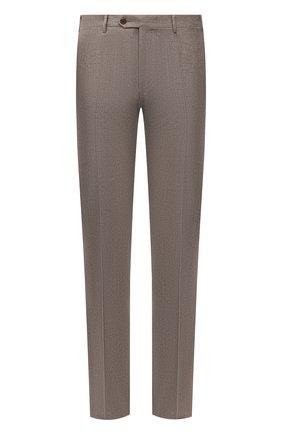 Мужские шерстяные брюки CORNELIANI бежевого цвета, арт. 885B01-1818111/02 | Фото 1