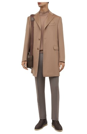Мужские шерстяные брюки CORNELIANI бежевого цвета, арт. 885B01-1818111/02 | Фото 2