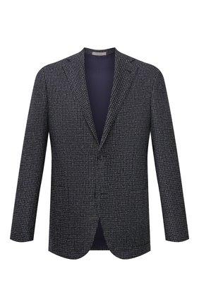 Мужской пиджак из шерсти и шелка CORNELIANI темно-синего цвета, арт. 886Y76-1816328/90 | Фото 1