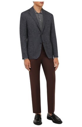 Мужской пиджак из шерсти и шелка CORNELIANI темно-синего цвета, арт. 886Y76-1816328/90 | Фото 2