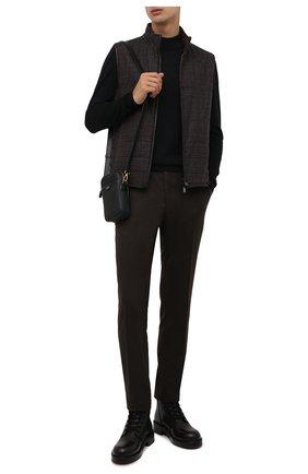Мужской двусторонний жилет CORNELIANI темно-коричневого цвета, арт. 88C516-1816381/00 | Фото 2