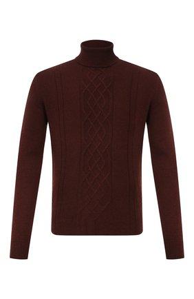 Мужской кашемировый свитер CORNELIANI коричневого цвета, арт. 88M538-1825165/00 | Фото 1