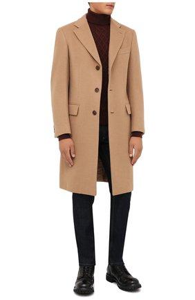Мужской кашемировый свитер CORNELIANI коричневого цвета, арт. 88M538-1825165/00 | Фото 2