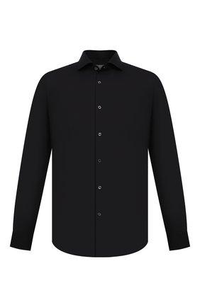 Мужская хлопковая сорочка CORNELIANI черного цвета, арт. 88P002-1811474/00 | Фото 1