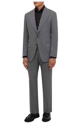 Мужская хлопковая сорочка CORNELIANI черного цвета, арт. 88P002-1811474/00 | Фото 2