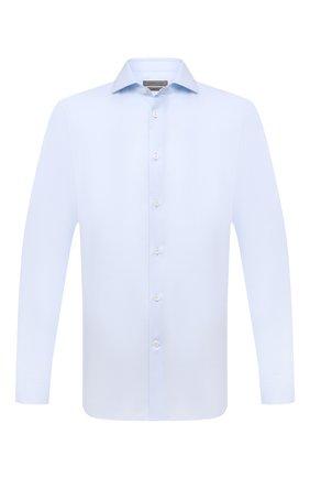 Мужская хлопковая сорочка CORNELIANI голубого цвета, арт. 88P002-1811624/00 | Фото 1