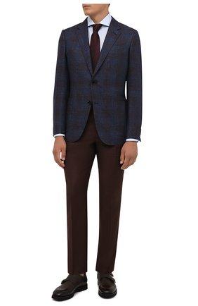 Мужская хлопковая сорочка CORNELIANI голубого цвета, арт. 88P002-1811624/00 | Фото 2
