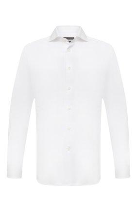 Мужская хлопковая сорочка CORNELIANI белого цвета, арт. 88P002-1811624/00 | Фото 1