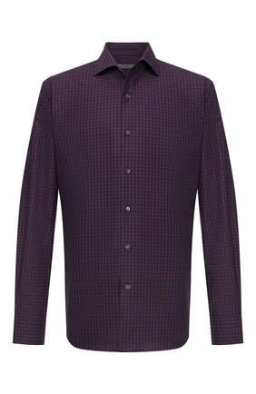 Мужская хлопковая рубашка CORNELIANI темно-бордового цвета, арт. 88P156-1811529/00 | Фото 1