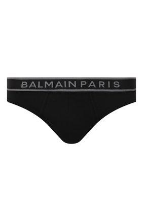 Мужские хлопковые брифы BALMAIN черного цвета, арт. BRL615220 | Фото 1