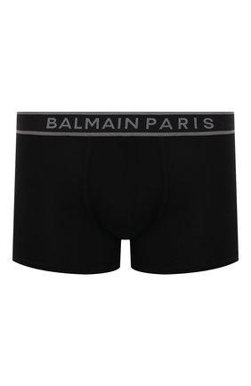Мужские хлопковые боксеры BALMAIN черного цвета, арт. BRLD55220 | Фото 1