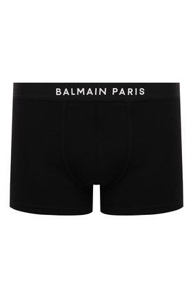 Мужские хлопковые боксеры BALMAIN черного цвета, арт. BRLD55230 | Фото 1