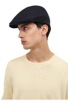 Мужская кепи из шерсти и кашемира LORO PIANA темно-синего цвета, арт. FAL8956   Фото 2