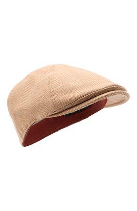 Мужская шерстяное кепи LORO PIANA бежевого цвета, арт. FAL7812 | Фото 1