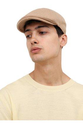 Мужская шерстяное кепи LORO PIANA бежевого цвета, арт. FAL7812 | Фото 2