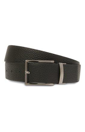Мужской кожаный ремень PAUL&SHARK черного цвета, арт. 11316008/GMJ | Фото 1