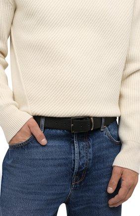 Мужской кожаный ремень PAUL&SHARK черного цвета, арт. 11316008/GMJ | Фото 2