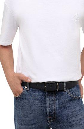 Мужской кожаный ремень PAUL&SHARK темно-синего цвета, арт. 11316008/GMJ | Фото 2