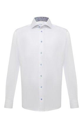 Мужская хлопковая сорочка ETON белого цвета, арт. 1000 02443 | Фото 1 (Материал внешний: Хлопок; Длина (для топов): Стандартные; Рукава: Длинные; Случай: Формальный; Манжеты: На пуговицах; Рубашки М: Slim Fit; Принт: Однотонные; Воротник: Кент; Стили: Классический)