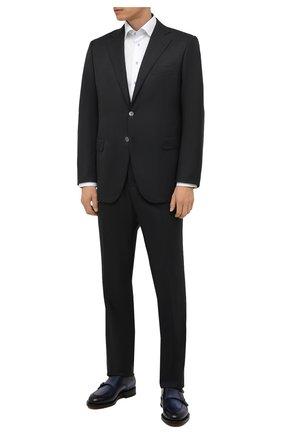 Мужская хлопковая сорочка ETON белого цвета, арт. 1000 02443 | Фото 2 (Материал внешний: Хлопок; Длина (для топов): Стандартные; Рукава: Длинные; Случай: Формальный; Манжеты: На пуговицах; Рубашки М: Slim Fit; Принт: Однотонные; Воротник: Кент; Стили: Классический)