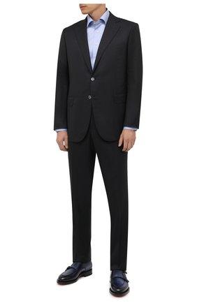 Мужская хлопковая сорочка ETON голубого цвета, арт. 1000 02446 | Фото 2 (Материал внешний: Хлопок; Случай: Формальный; Манжеты: На пуговицах; Рубашки М: Regular Fit; Рукава: Длинные; Принт: Однотонные; Воротник: Акула; Стили: Классический; Длина (для топов): Стандартные)