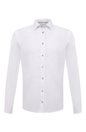 Мужская хлопковая сорочка ETON белого цвета, арт. 1000 02567 | Фото 1 (Материал внешний: Хлопок; Случай: Формальный; Манжеты: На пуговицах; Рубашки М: Super Slim Fit; Рукава: Длинные; Принт: Однотонные; Воротник: Кент; Стили: Классический)