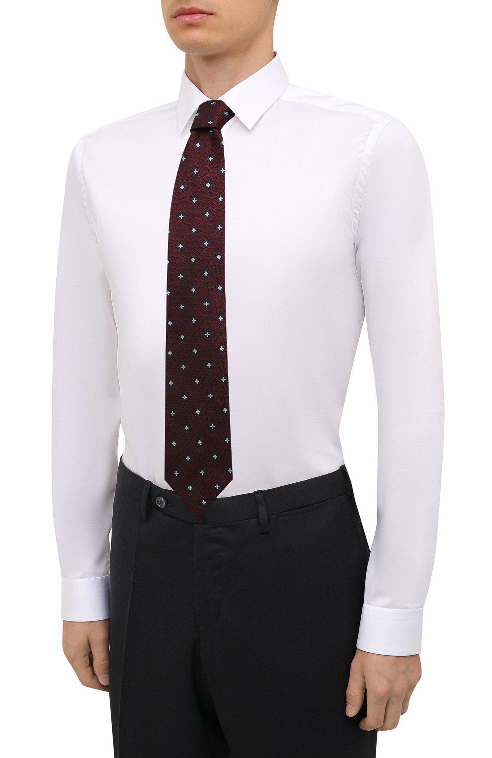 Мужская хлопковая сорочка ETON белого цвета, арт. 1000 02567   Фото 4 (Манжеты: На пуговицах; Воротник: Кент; Рукава: Длинные; Рубашки М: Super Slim Fit; Материал внешний: Хлопок; Стили: Классический; Случай: Формальный; Принт: Однотонные)