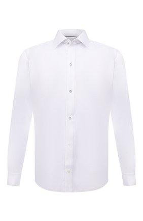 Мужская хлопковая сорочка ETON белого цвета, арт. 1000 02580 | Фото 1 (Рукава: Длинные; Материал внешний: Хлопок; Длина (для топов): Стандартные; Случай: Формальный; Манжеты: Под запонки; Рубашки М: Slim Fit; Принт: Однотонные; Воротник: Кент; Стили: Классический)