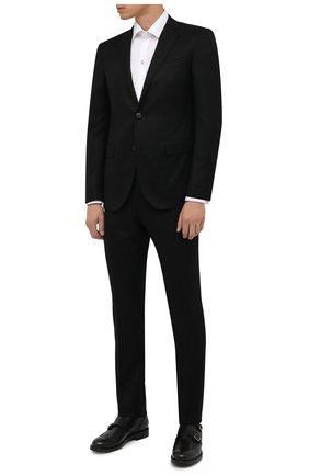 Мужская хлопковая сорочка ETON белого цвета, арт. 1000 02580 | Фото 2 (Рукава: Длинные; Материал внешний: Хлопок; Длина (для топов): Стандартные; Случай: Формальный; Манжеты: Под запонки; Рубашки М: Slim Fit; Принт: Однотонные; Воротник: Кент; Стили: Классический)
