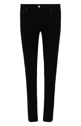 Мужские джинсы AMIRI черного цвета, арт. XMD004-001 | Фото 1 (Материал внешний: Хлопок; Длина (брюки, джинсы): Стандартные; Кросс-КТ: Деним; Силуэт М (брюки): Узкие; Стили: Гранж)