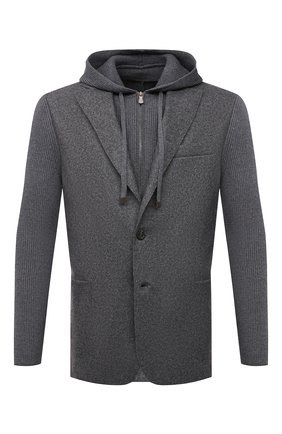 Мужской шерстяной пиджак ELEVENTY серого цвета, арт. D70GIAD04 TES0D140 | Фото 1