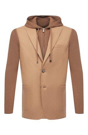 Мужской шерстяной пиджак ELEVENTY бежевого цвета, арт. D70GIAD04 TES0D140 | Фото 1