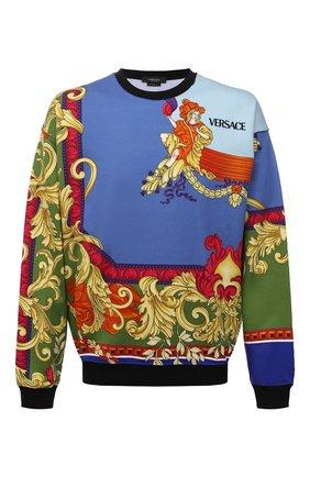 Мужской хлопковый свитшот VERSACE разноцветного цвета, арт. A84168/1A01246 | Фото 1