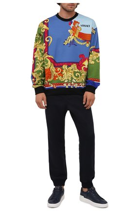 Мужской хлопковый свитшот VERSACE разноцветного цвета, арт. A84168/1A01246 | Фото 2