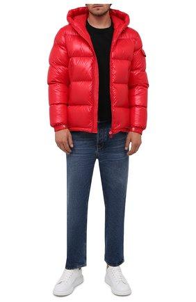 Мужская пуховая куртка ecrins MONCLER красного цвета, арт. G2-091-1A001-68-68950 | Фото 2