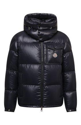 Мужская пуховая куртка montbeliard MONCLER темно-синего цвета, арт. G2-091-1A001-42-68950 | Фото 1 (Материал подклада: Синтетический материал; Длина (верхняя одежда): Короткие; Рукава: Длинные; Материал утеплителя: Пух и перо; Материал внешний: Синтетический материал; Кросс-КТ: Куртка; Мужское Кросс-КТ: пуховик-короткий; Стили: Кэжуэл)